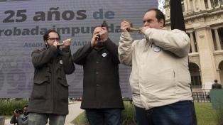 Los principales dirigentes políticos recordaron los 25 años del atentado a la AMIA