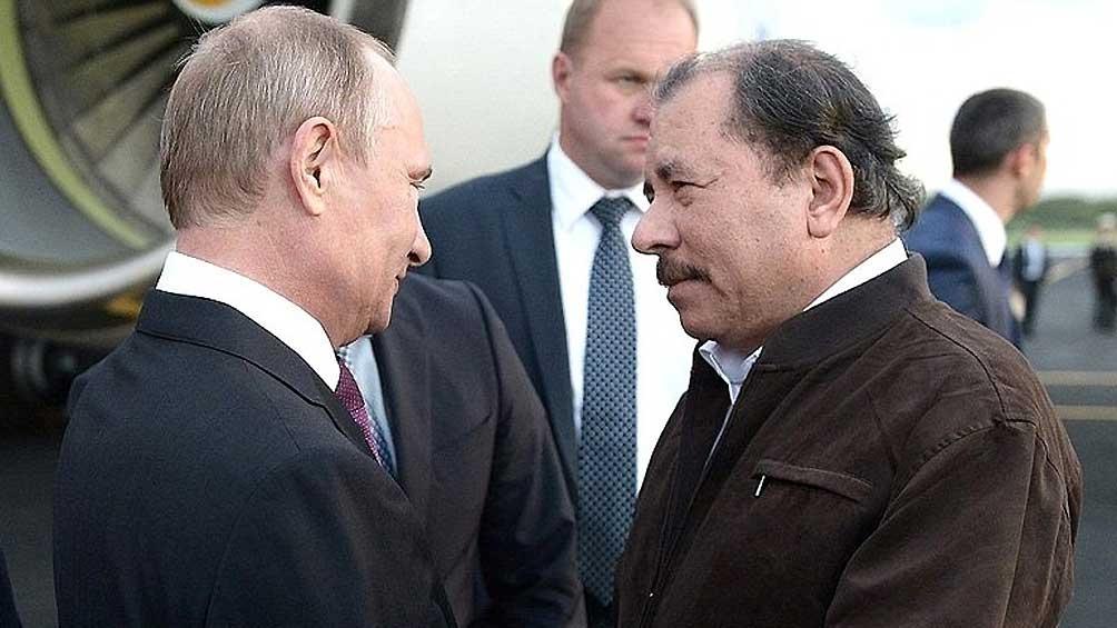 NICARAGUA: Putin respalda a Ortega en el aniversario de la revolución sandinista