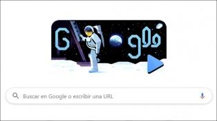 El homenaje de Google por los 50 años del alunizaje