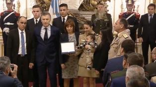 """Macri: no se puede """"vivir en una Argentina más segura si no cuidamos a los que nos cuidan"""""""