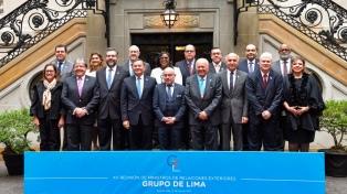El Grupo de Lima respaldó a Guaidó y envíó a la CPI el informe de ONU sobre DDHH