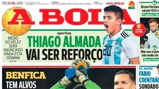 """Thiago Almada, la """"joya"""" de Vélez, podría jugar Sporting Lisboa"""