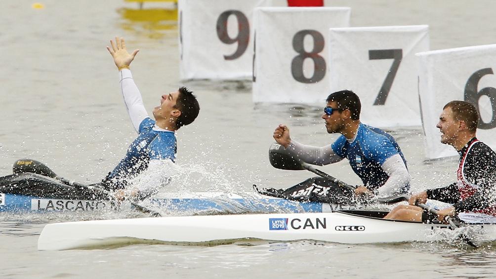 Pocas horas después, Agustín Vernice y Manuel Lascano ganaban en la especialidad K2 1000M.
