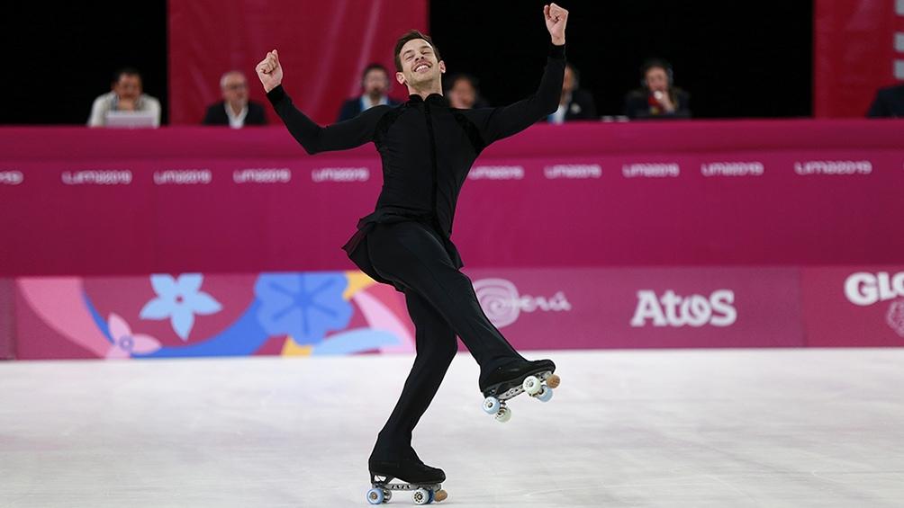 El rosarino Juan Francisco Sánchez obtuvo la primera medalla dorada para la Argentina. Fue en patinaje artístico.