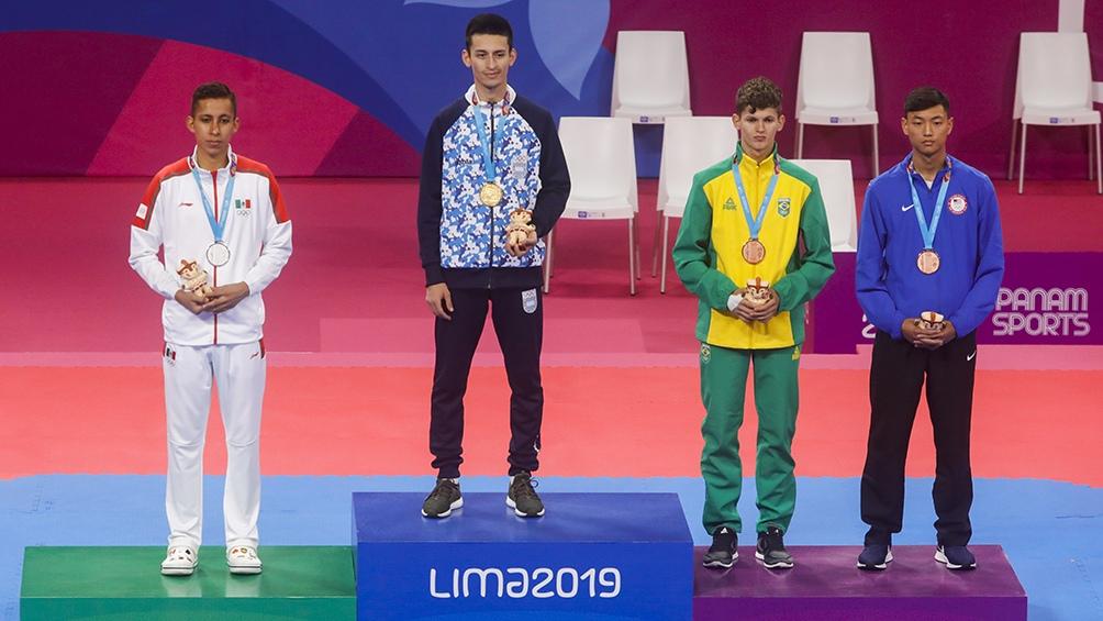 Compartió el podio con Brandon Plaza (plata, México), Paulo Souza (bronce, Brasil) y David Kim (bronce, Estados Unidos).