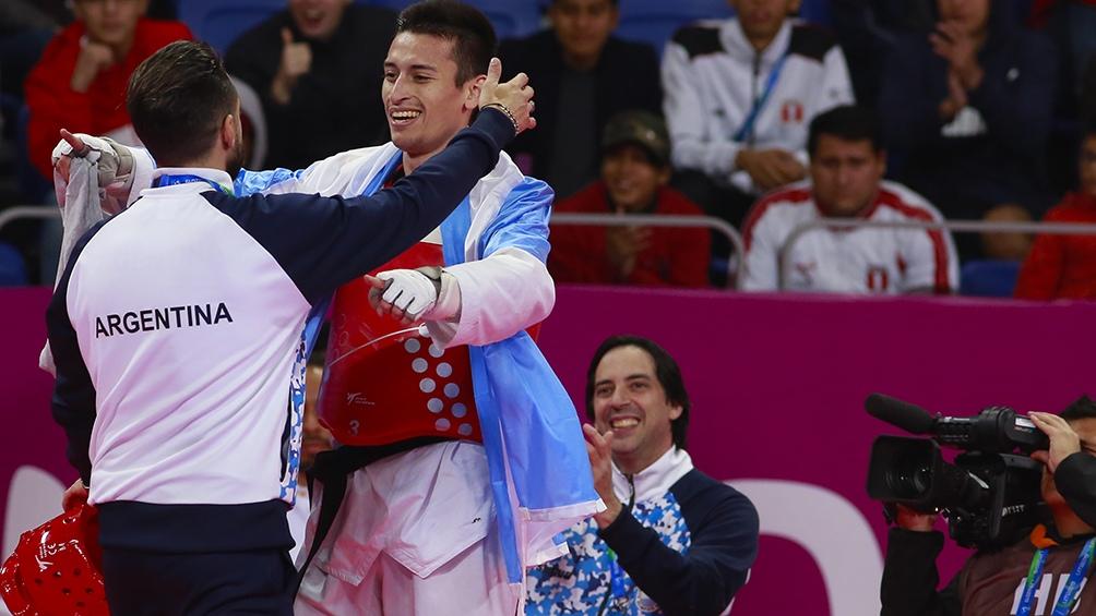 El bonaerense Lucas Guzmán logró el oro en taekwondo hasta 58 kilos.