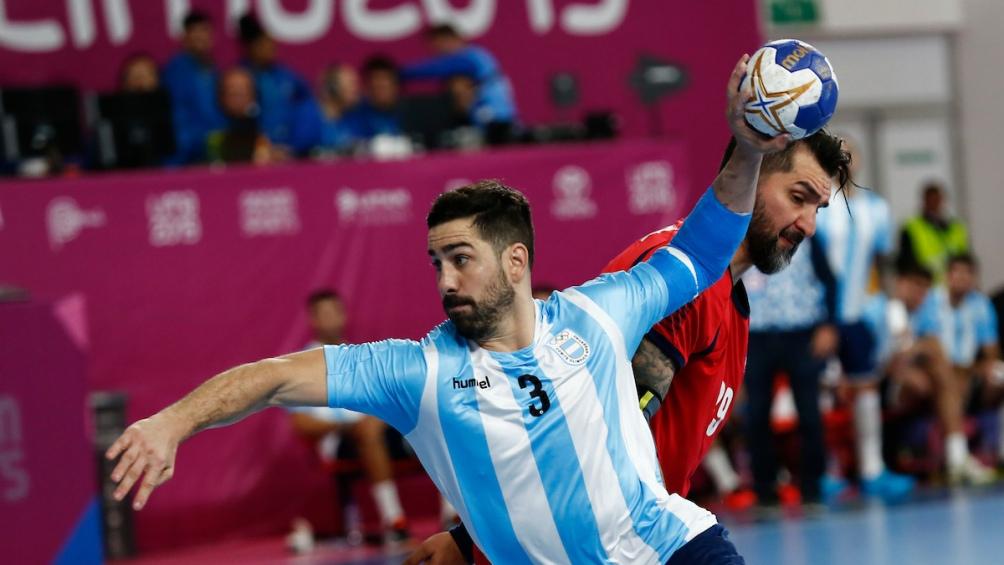 Federico Pizarro, una de las figuras en la final ante Chile. Fue victoria 31 a 27. Fue oro. Fue pasaje a Japón.