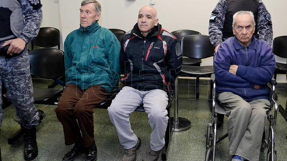 Los tres condenados: Corbacho, Gómez y Corradi