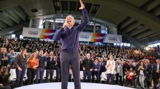 """Macri y el grito que se hizo viral """"no se inunda más, carajo!"""" en el cierre de la campaña"""