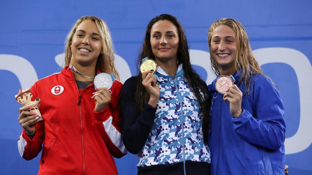 Virginia compartió el podio con Mary-Sophie Harvey (Canada, plata) y Megan Small (Estados Unidos, bronce).
