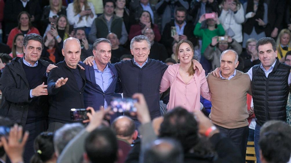 Movilizaciones en Córdoba para apoyar al Gobierno de Macri