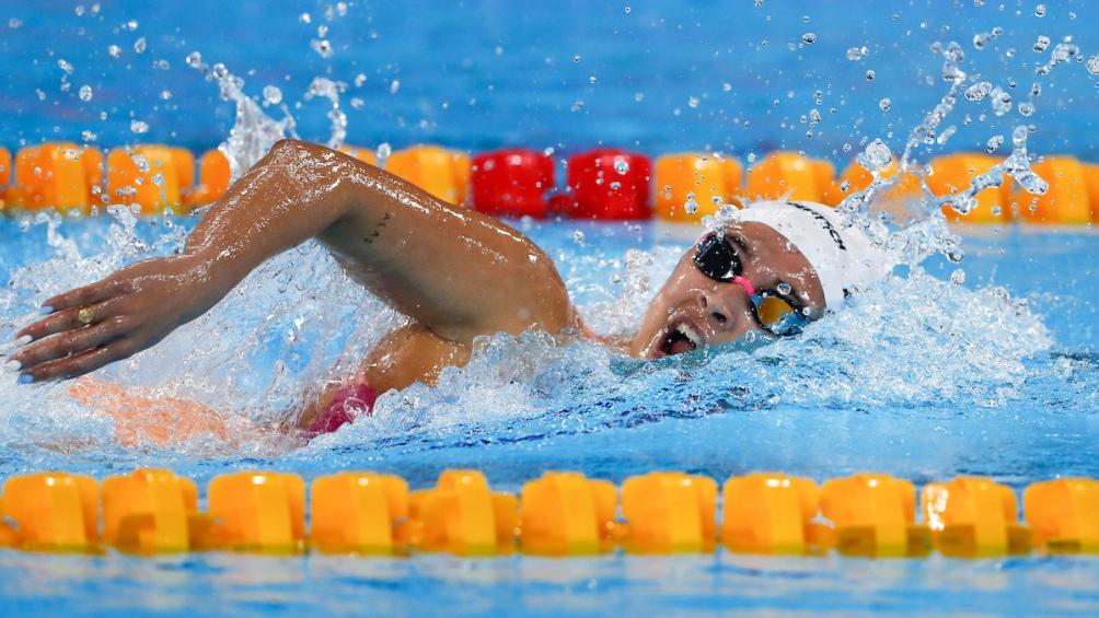 La sanisidrense Delfina Pignatiello arrasó en los 800 metros libres y ganó su segundo oro.