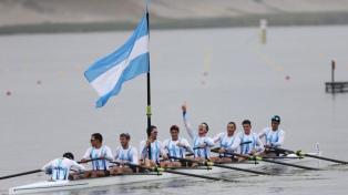 El equipo masculino de ocho remos sumó un nuevo oro para la Argentina