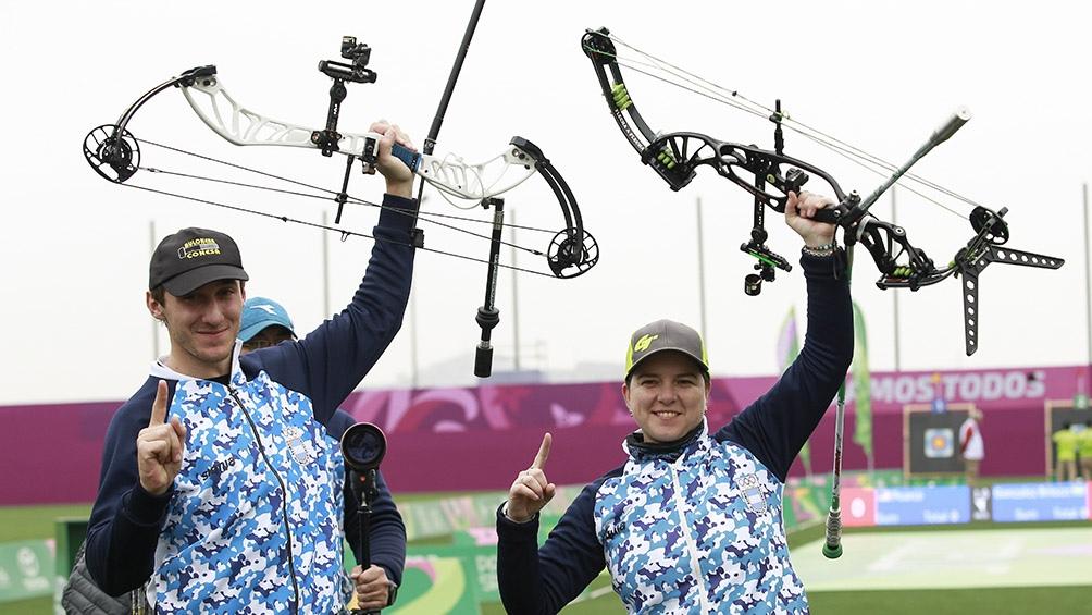 Eugenia González e Iván Nikolajuk vencieron a la dupla de Guatemala en la final mixta de arquería.