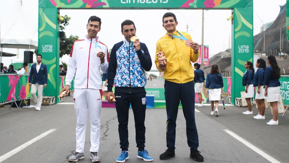 Compartió el podio con el mexicano Ignacio Prado (plata) y el colombiano Bryan Gómez (bronce).