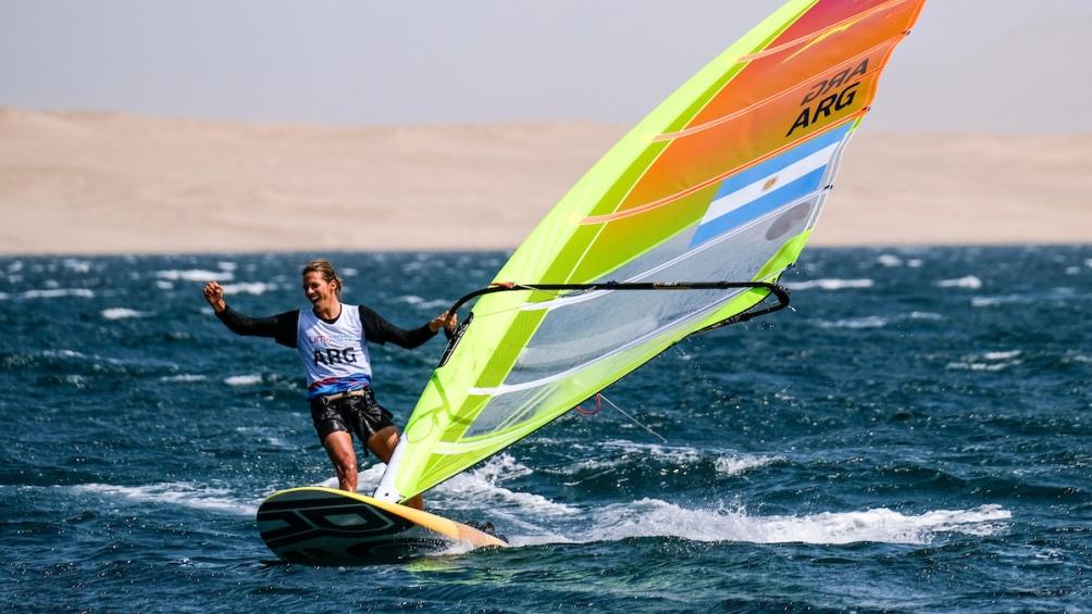 Bautista Saubidet Birkner se impuso en la Clase RSX de Vela. Otro oro para el yachting.