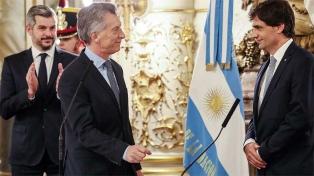 """Macri, a Lacunza: """"Te pido que cuides a los argentinos y hables con todos"""""""