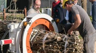 El municipio de General Viamonte utiliza las ramas de poda para generar energía térmica