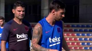 Messi realizó trabajos con pelota en el tramo final de su recuperación