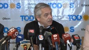 """Fernández dijo que los argentinos """"deben dejar de hablar de la grieta y trabajar juntos"""""""