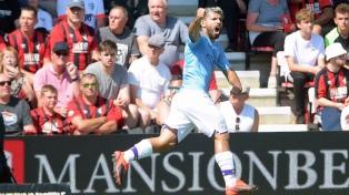 """""""Kun"""" Agüero, con un doblete, llega a 400 goles tras ganarle al Bournemouth"""