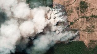 """El humo de la Amazonia """"llegó al norte del país"""" y el miércoles estaria en Buenos Aires"""