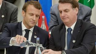 Bolsonaro exige una disculpas de Macron para aceptar fondos del G7