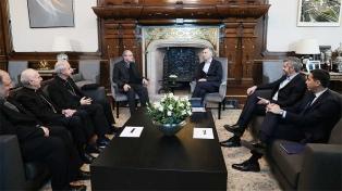 """Macri le pidió colaboración a la cúpula del Episcopado para mantener la """"cohesión social"""""""