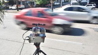 Comienza a regir en la capital el sistema de multas por exceso de velocidad