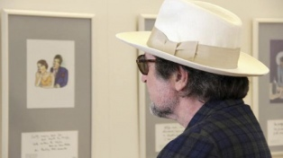 Otra faceta de Joaquín Sabina: exhibe 250 dibujos en su ciudad natal
