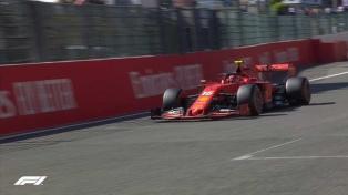 Charles Leclerc hizo la pole del Gran Premio de Bélgica