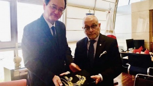 Faurie se reunió con el nuevo embajador de Japón