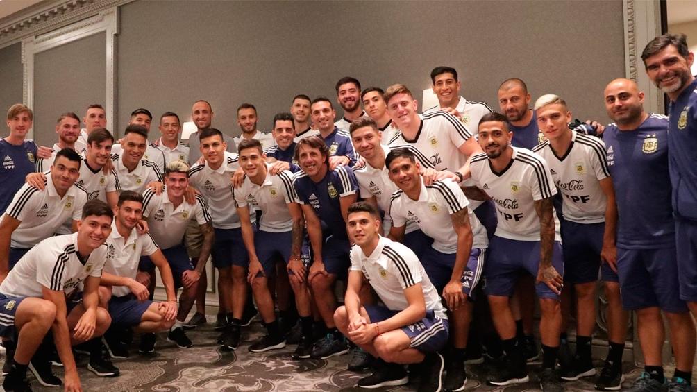 Argentina vs México: una estrella del deporte almorzó con el plantel