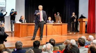 Alberto Fernández cierra jornada de homenaje a Esteban Righi y encabeza un acto con Lammens y Donda
