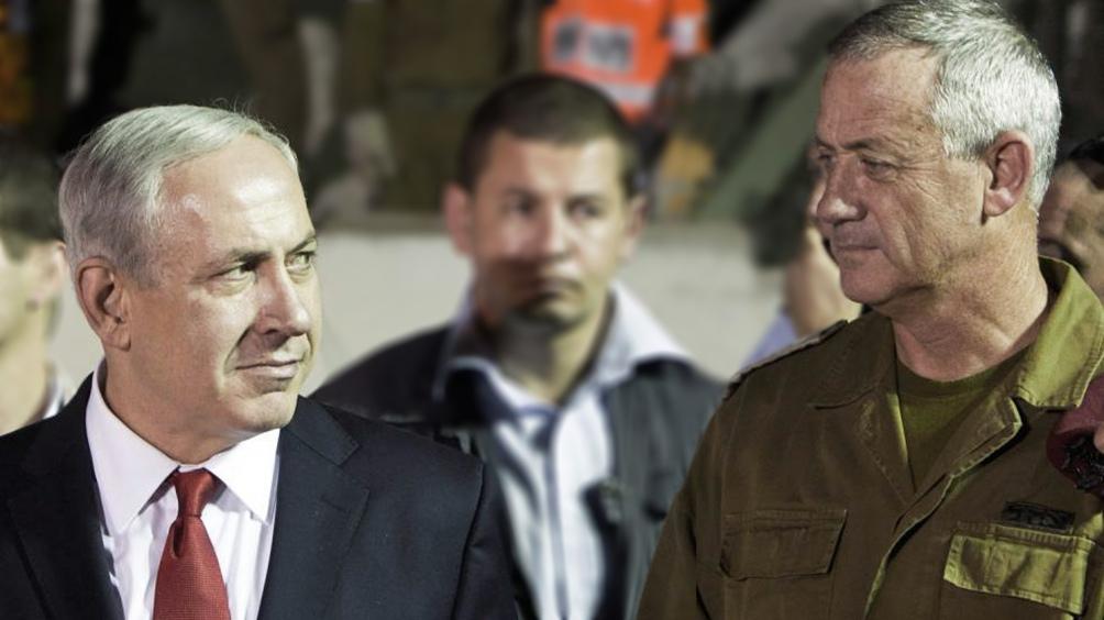 Netanyahu (Likud) y Gantz (Azul y Blanco), cara a cara