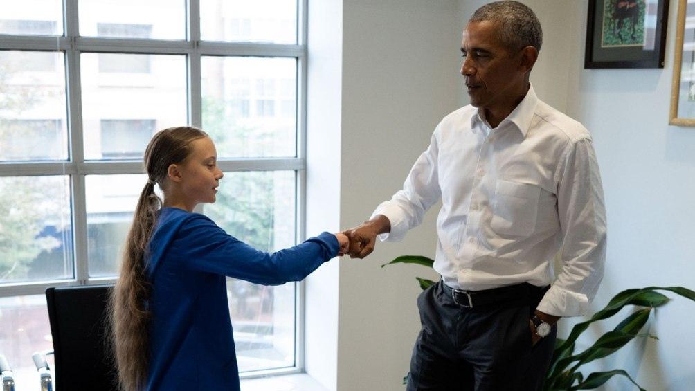 Esta semana también se reunió con el ex presidente Barack Obama.
