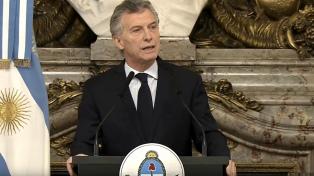 """Macri: """"Trabajamos mucho para que la política no intervenga en la justicia"""""""