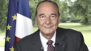 Murió el ex presidente Chirac, un líder de la derecha francesa