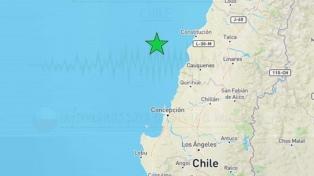 Un sismo de 6,6 grados sacudió la zona centro y sur del territorio chileno