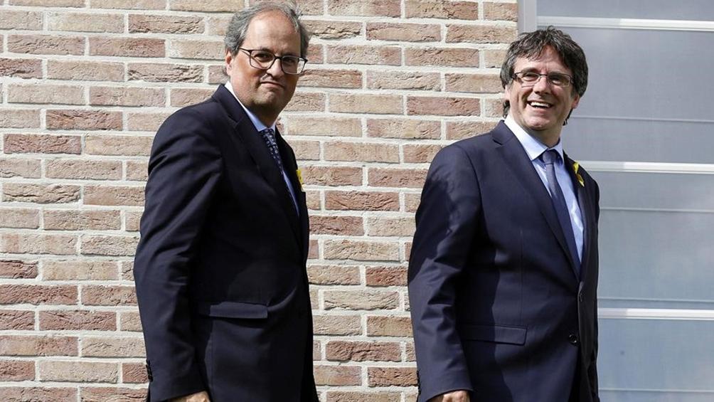 Crece la tensión por Cataluña por el presunto nexo entre radicales detenidos con Torra y Puigdemont