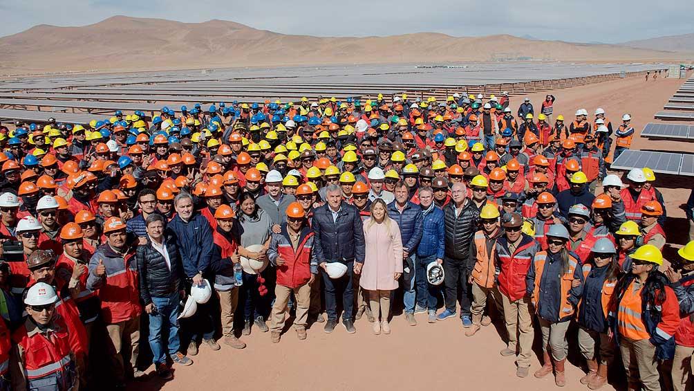 Inauguraron obras del parque fotovoltáico más grande de Latinoamérica en la Puna