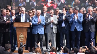 "Alberto Fernández, en San Juan: ""Vamos a hacer un gobierno de un presidente con 24 gobernadores"""