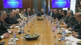 """""""Tenemos muchos puntos en común"""", dice Alberto Fernández sobre su reunión en la Unión Industrial"""
