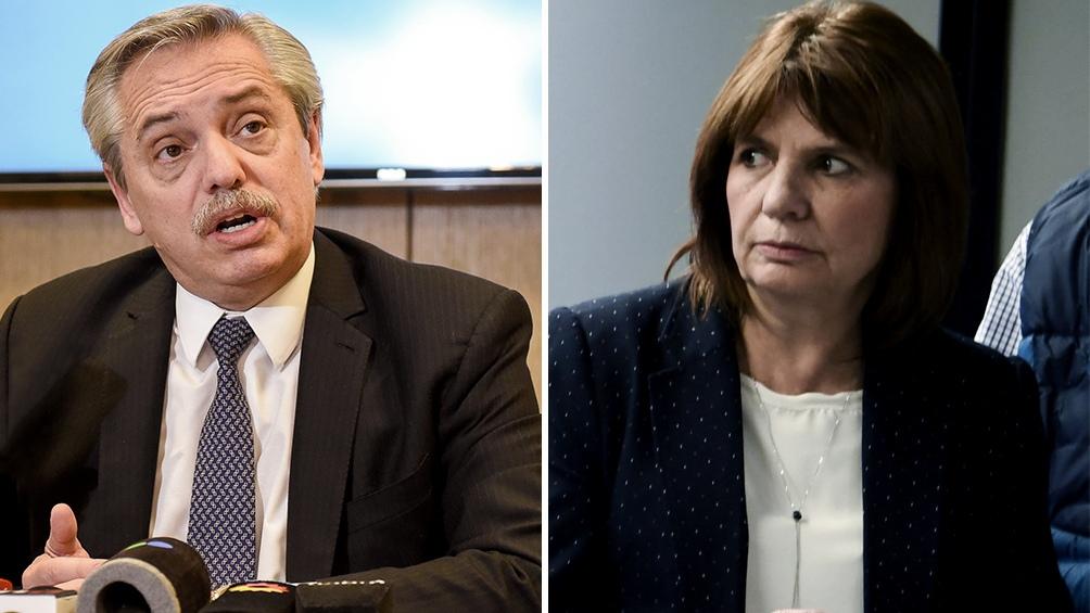 Duro cruce en redes entre Alberto Fernández y Patricia Bullrich por temas  de seguridad - Télam - Agencia Nacional de Noticias