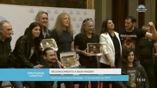 Distinguen en Diputados a los británicos de Iron Maiden