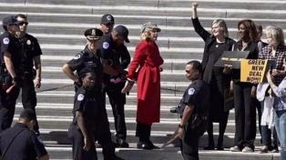Jane Fonda fue detenida durante una protesta contra el cambio climático