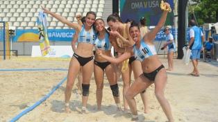 Doble triunfo del seleccionado femenino de beach handball en los Juegos Mundiales de Playa