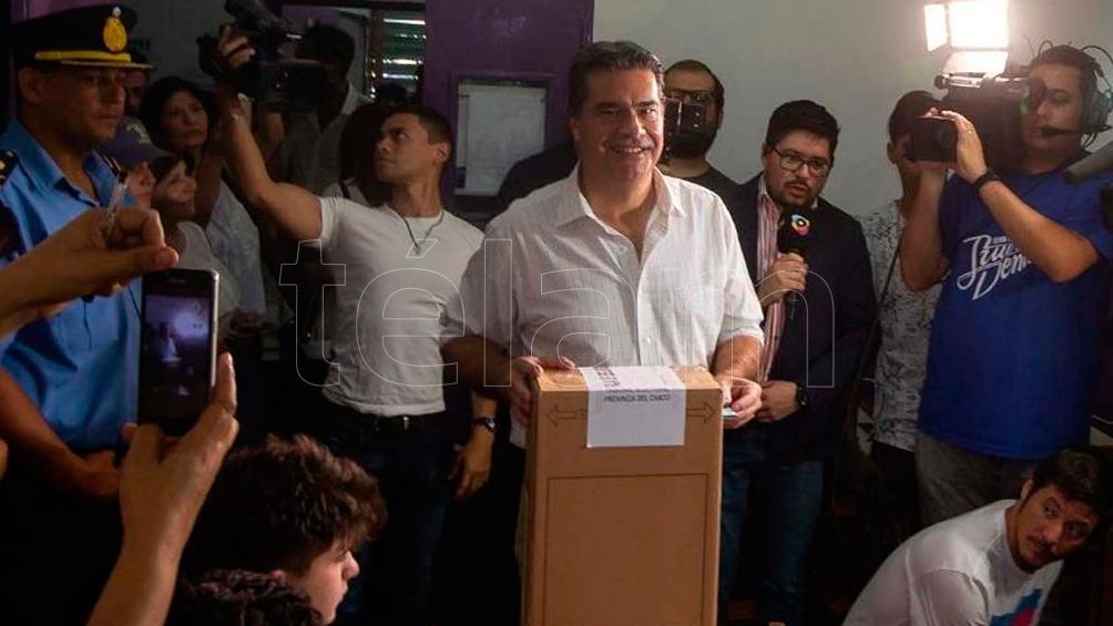 Vota Jorge Capitanich, del Frente Chaqueño