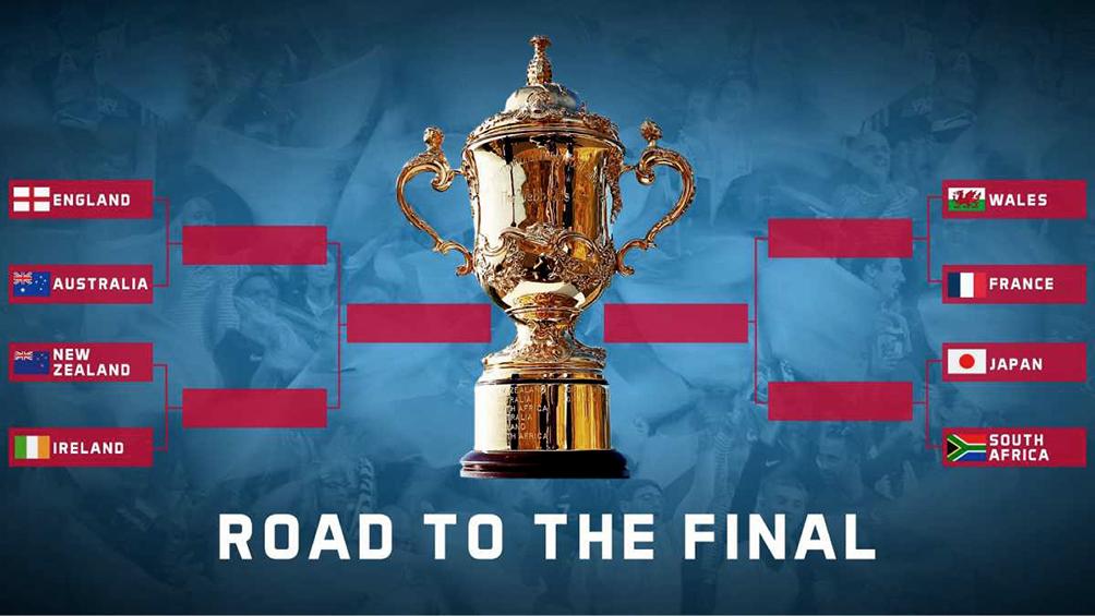 Los cruces del cuartos de final del Mundial de rugby