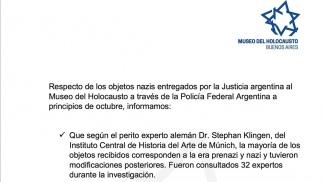 La ratificación del Museo del Holocausto de Buenos Aires
